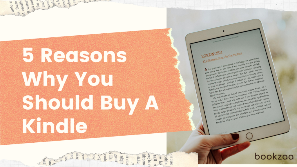5 Reasons Why You Should Buy A Kindle - Blog Cover